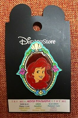 Disney Store JAPAN Little Mermaid Cameo Princess Mood Pin Ariel Free Shipping