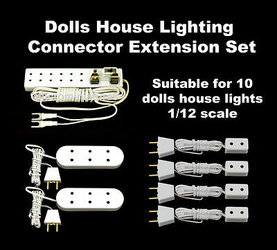 Dolls House Lighting  Connector Extension Set