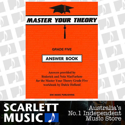 "Master Your Theory - Grade 5 / Five ""Answer Book"" - Dulcie Holland *NEW*"