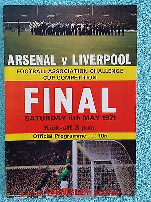 1971 - FA CUP FINAL PROGRAMME - ARSENAL v LIVERPOOL - DOUBLE SEASON