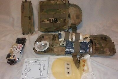 Military Issue Ifak Ii First Aid Kit Loaded Contents Unused Multicam