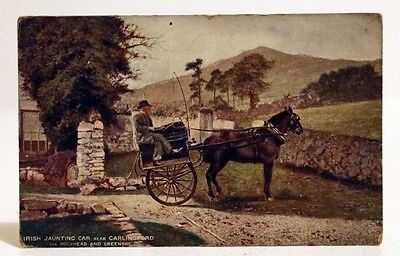 Vintage Postcard - Irish Jaunting Car, Carlingford, Dublin 1907