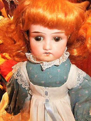 Nice Antique cabinet Bisque head Doll Repaired in New Body 12-1/2 inches