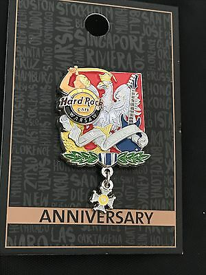Hard Rock Cafe Warsaw 9th Anniversary Pin 2016