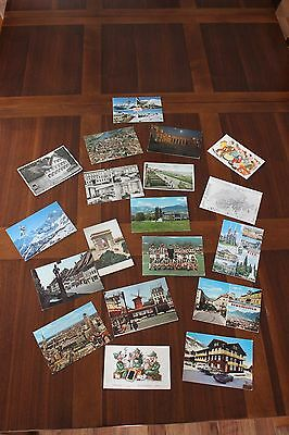 Lot of 19 Vintage European Postcards (Greece Switzerland Italy France Germany)