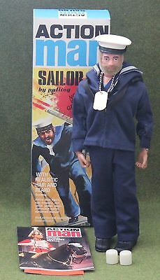 vintage action man 40th anniversary blonde hair sailor gripping hands boxed