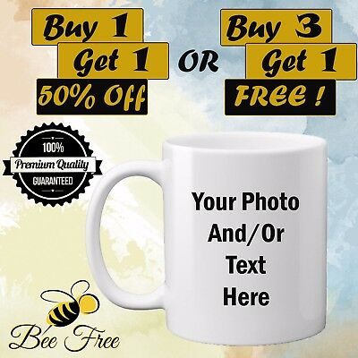 Personalised Mug Photo Text Image Customised Gift Freshers Birthday Graduation