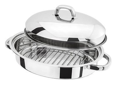 Judge Induction Stainless Steel Roaster with Lid and Rack 32cm