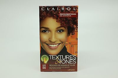 Clairol Texture Tones Womens Hair Color 6r Ruby Rage New