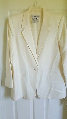 SAG HARBOR pant suit size 18 ivory wool rayon pants and jacket nwt