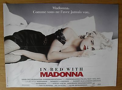 MADONNA vintage french poster in bed with madonna