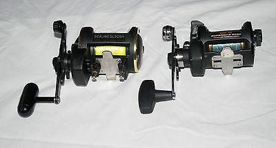 SEA FISHING RODS AND REELS 3 rods 3 reels +++