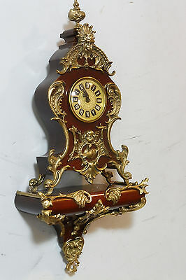 Small Old Boulle Clock with consule German Clock of solid Wood