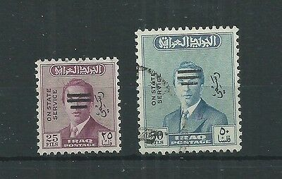 Iraq 1972 Official Sg O1083-4 Set Fine Used