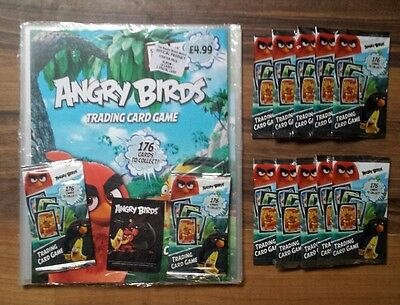 Angry Birds Trading Card Game Starter Pack ( album & card )+ 10 FREE Packs cards