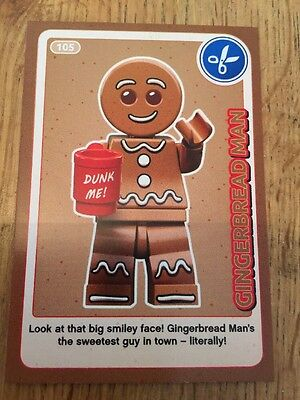 Sainsburys Lego Create the World Trading Card 105 GINGERBREAD MAN