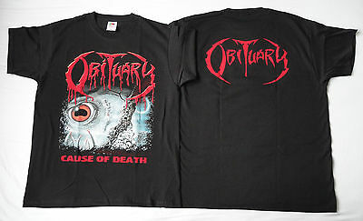 OBITUARY Cause of Death UNIQUE OFFICIAL LIMITED T-SHIRT Ltd ALL SIZE S-XXL CULT