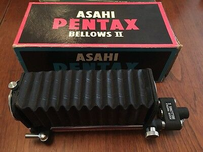 Vintage Asahi Pentax Bellows II, Close Up Macro Attachment Boxed Great Condition