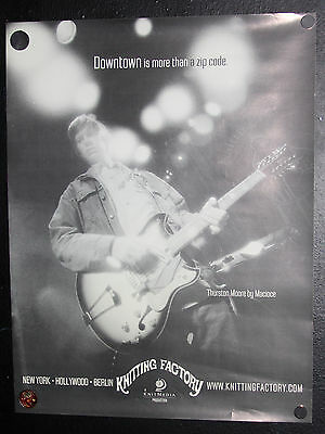 THURSTON MOORE POSTER, MACIOCE, Sonic Youth, KNITTING FACTORY, NYC