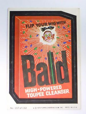 VINTAGE! 1979 Topps Wacky Packages Trading Card #107-Bald-Bold