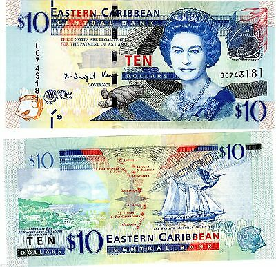 East Eastern Caribbean 10 Dollars 2016 P New Sc Unc