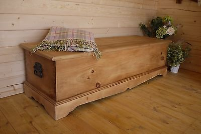 Solid waxed pine chest, trunk, coffee table, ottoman, toy box, storage bench.