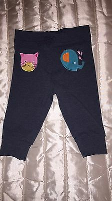 Next Baby Girls Sweet Pea Navy Cat Joggers 6-9 Months