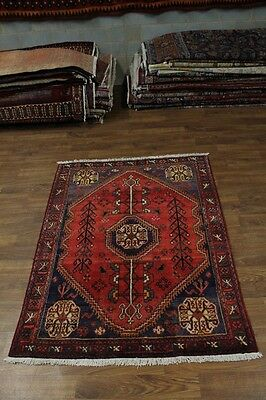 Great Hand Knotted Semi Antique Hamedan Persian Area Rug Oriental Carpet 5X7