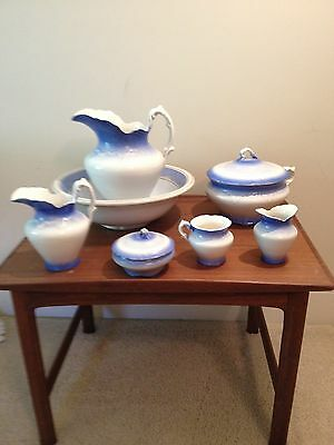 Blue and White Chamber Set from Wellsville China Company