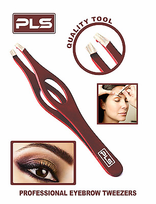 PINCE A ÉPILER - Professional Stainless Steel Tweezer Slanted Tip for Eyebrows