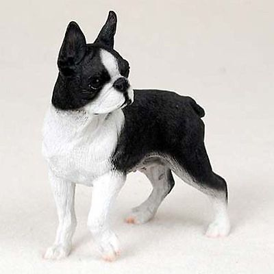 Boston Terrier Hand Painted Collectible Dog Figurine