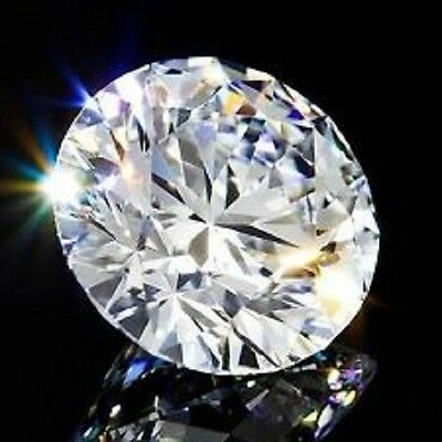 Round 6 mm 1.4 ct VVS G White Brilliant Cut Lab Diamond Solitaire Flawless Stone