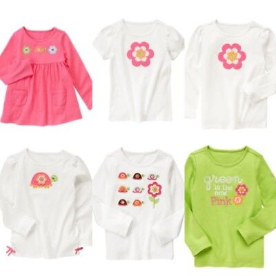 Gymboree Growing Flowers 5 6 7 8 9 10 Shirts Tops U Pick Turtle Green 2011