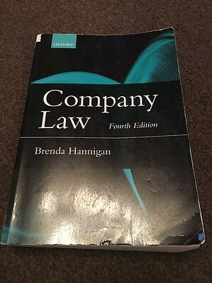 Company Law by Brenda Hannigan (Paperback, 2015)