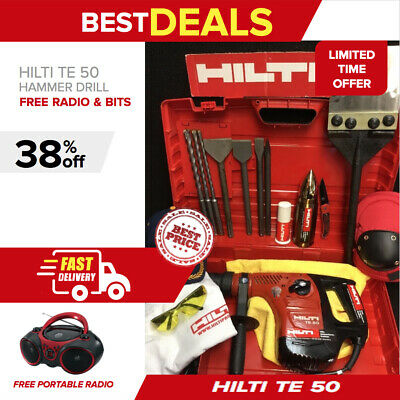 Hilti Te 50 Hammer, Preowned, Free Radio, Chisels, A Lot Of Extras, Quick Ship