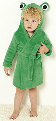 9/12 MONTHS BNWT BABY BOYS or GIRLS HOODED FROG ROBE DRESSING GOWN GREEN