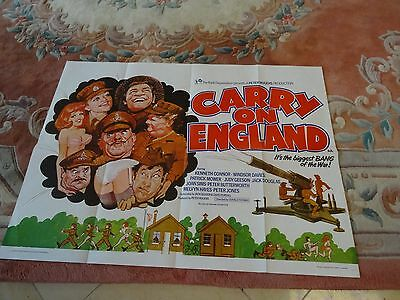 Carry On England, Vintage Original 1976 UK Quad Poster-very good condition