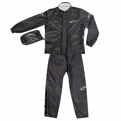 ALPINESTARS Quick Seal Out Waterproof Rain Suit Black Jacket and Trousers M