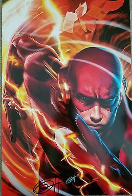 FLASH Print Artist SIGNED GREG HORN 11X17 is Damaged Justice League DC COMIC