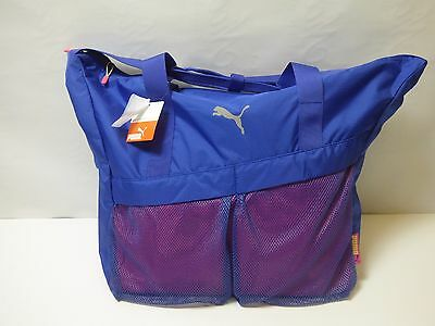 Puma Womens Workout Bag Spectrum Blue-Beetroot Purple-Sunny Lime 42 x 41 x 17 cm