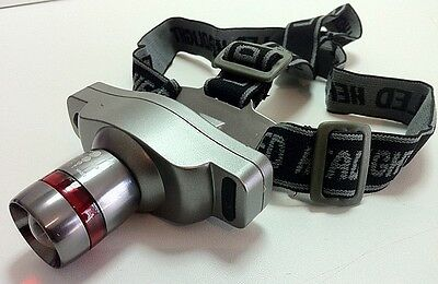 Lampe Torche Frontale Rechargeable Cree Q4 3 Watts Avec Zoom