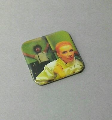 Annie Lennox  Eurythmics  1.5 Inch Square Pin Back (Buy Two - Get One Free)
