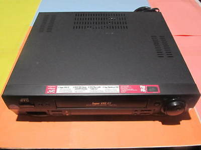 Jvc Hr-S3600U Super Vhs - Vcr Player, Tested With Remote **** Please Read ****