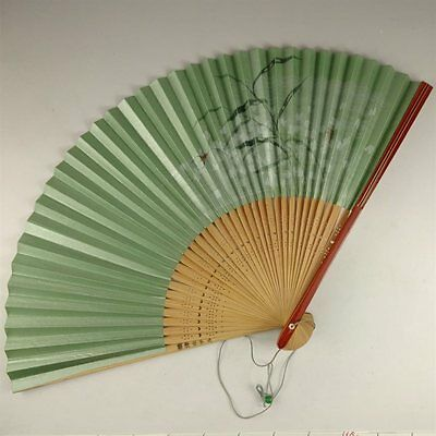YU156 SENSU Bug Animal Japanese Fan painting Nihonga Picture Traditional crafts