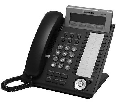 Panasonic KX-DT333-B Digital 3 line LCD 24 CO Key Phone KX-DT333B Black