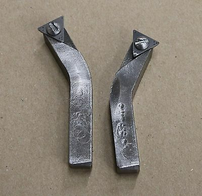 Offset Positive Rake Carbide Cutting Bit Holders Brake Lathe Extended Reach 3
