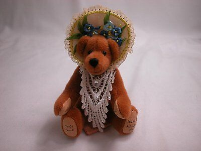 """World of Miniature Bears 3.5"""" Cashmere Bear Patience #861 Collectible Bear"""