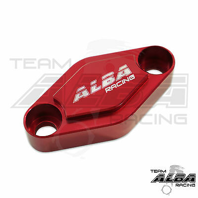 Kawasaki KFX 400 KFX400  Parking Brake Blockoff Plate  Block off Plate Red