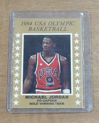 Michael Jordan 1984 USA Olympic Basketball Trading Card