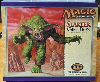 Magic The Gathering Starter Gift Box Set - Oversized Card, Vhs, Game - Complete